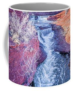 waterfalls at Colorado foothills aerial view Coffee Mug