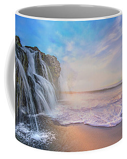 Waterfalls Into The Ocean Coffee Mug