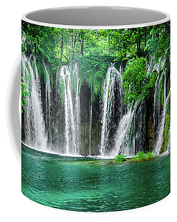 Waterfalls Panorama - Plitvice Lakes National Park Croatia Coffee Mug