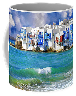 Waterfront At Mykonos Coffee Mug