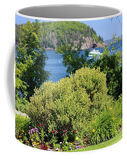 Waterfront Garden Coffee Mug by Living Color Photography Lorraine Lynch