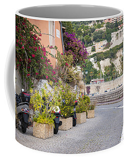 Waterfront Street In Villefranche-sur-mer Coffee Mug