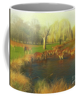 Coffee Mug featuring the photograph Watering Hole by Leigh Kemp