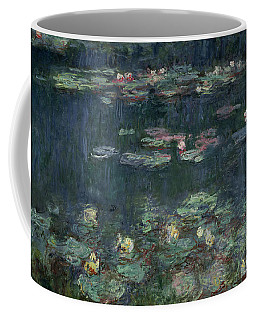 Waterlilies Green Reflections Coffee Mug