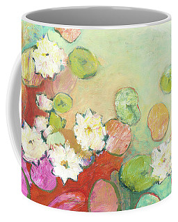 Waterlillies At Dusk No 2 Coffee Mug