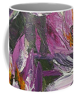 Coffee Mug featuring the painting Waterlilly by Chris Hobel