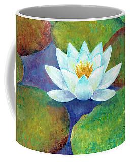 Coffee Mug featuring the painting Waterlily by Elizabeth Lock