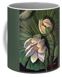 Waterlily Like A Clock Coffee Mug by Randy Burns
