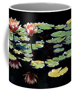 Coffee Mug featuring the painting Waterlily Panorama by Marilyn Smith