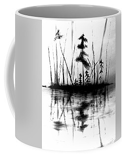 Coffee Mug featuring the painting Waters Edge by Denise Tomasura