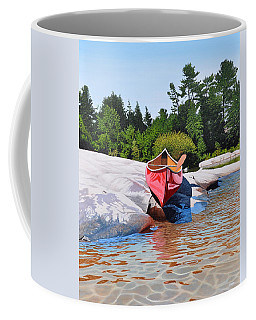 Coffee Mug featuring the painting Waters Edge by Kenneth M Kirsch