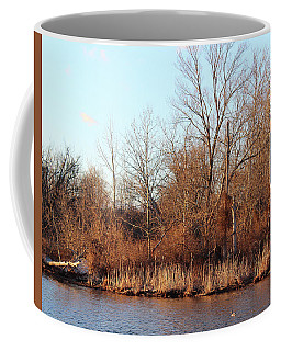 Coffee Mug featuring the photograph Northeast River Banks by Melinda Blackman