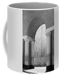 Waterwall And Arch 3 In Black And White Coffee Mug