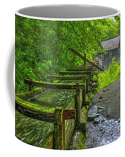 Waterworks Mingus Mill Mingus Creek Art  Great Smoky Mountains Art Coffee Mug
