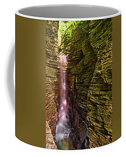 Coffee Mug featuring the photograph Watkins Glen State Park - Cavern Cascade Falls 001 by George Bostian