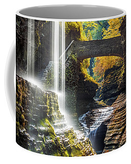 Coffee Mug featuring the photograph Watkins Glen State Park by Mihai Andritoiu