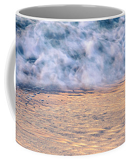 Coffee Mug featuring the photograph Wave Abstract 3, Hoi An, 2014 by Hitendra SINKAR