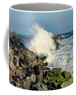 Wave Crash At The Wedge Coffee Mug