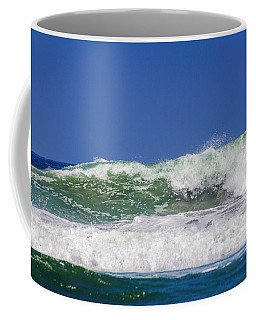 Coffee Mug featuring the photograph Wave Rolling To The Beach by Randy Bayne