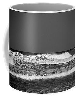 Waves 2 In Bw Coffee Mug by Susanne Van Hulst