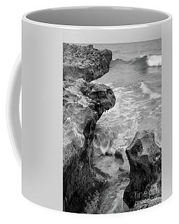 Waves And Coquina Rocks, Jupiter, Florida #39358-bw Coffee Mug
