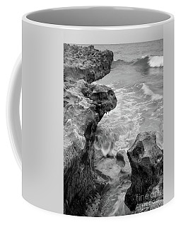 Waves And Coquina Rocks, Jupiter, Florida #39358-bw Coffee Mug