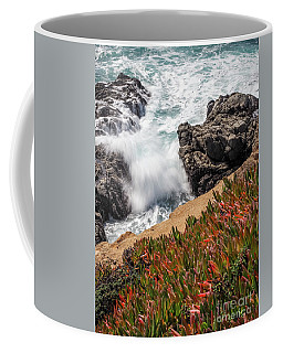 Waves And Rocks At Soberanes Point, California 30296 Coffee Mug