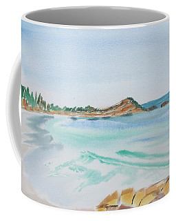 Waves Arriving Ashore In A Tasmanian East Coast Bay Coffee Mug
