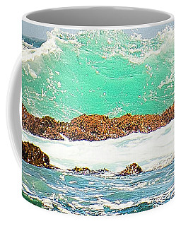 Waves At Pacific Grove California Coffee Mug