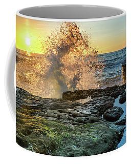 Waves At Sunset Cliffs Coffee Mug