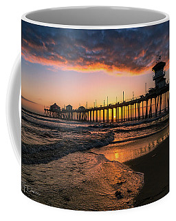 Waves At Sunset Coffee Mug