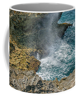 Waves Crushing On The Shore Coffee Mug by Patricia Hofmeester