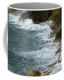 Waves Lashing Rocks Coffee Mug