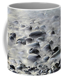 Waves On Cobble-panoramic Coffee Mug