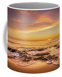 Waves Over Rocks. Coffee Mug
