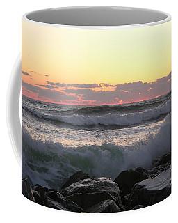 Waves Over The Rocks  5-3-15 Coffee Mug