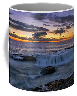 Wave Over The Rocks Coffee Mug