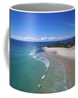 Waves Rolling In To North Point Beach On Moreton Island Coffee Mug