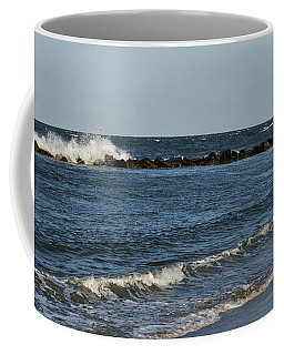 Coffee Mug featuring the photograph Waves by Sandy Keeton