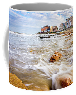 Waves Washing The Rocks Coffee Mug