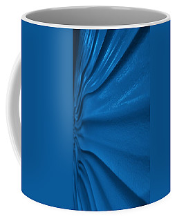 Coffee Mug featuring the photograph Wavy Wall Blue by Rob Hans