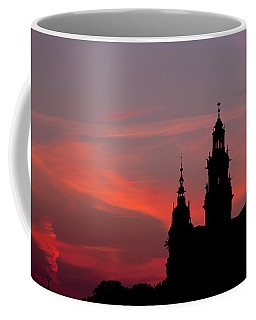Wawel Castle And Cathedral Silhouette In Krakow Coffee Mug