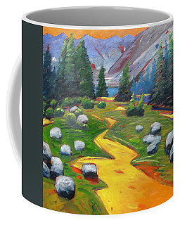 Coffee Mug featuring the painting Way To The Lake by Gary Coleman