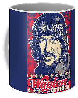 Waylon Jennings Pop Art Coffee Mug