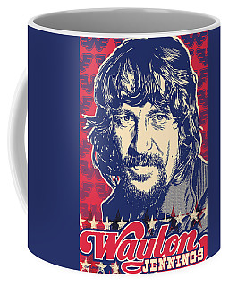 Waylon Jennings Pop Art Coffee Mug by Jim Zahniser
