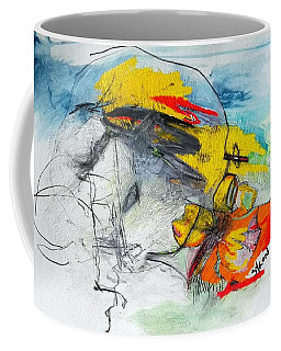 Coffee Mug featuring the drawing We Are One by Helen Syron