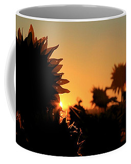 Coffee Mug featuring the photograph We Are Sunflowers by Chris Berry