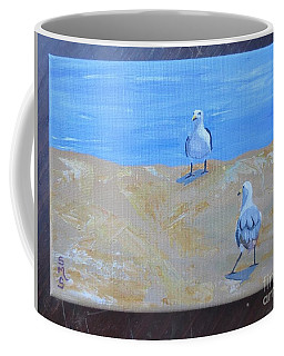 We First Met On The Beach Coffee Mug