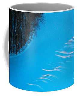 Coffee Mug featuring the photograph We Got The Blues - Winter In Switzerland by Susanne Van Hulst