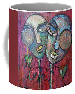 We Live With Love In Our Hearts Coffee Mug